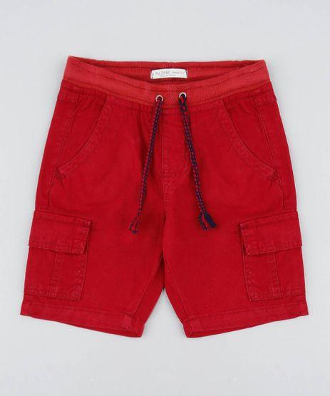 Bermuda-Color-Infantil-Cargo-com-Bolsos-e-Cordao-Vermelha-9429365-Vermelho_1