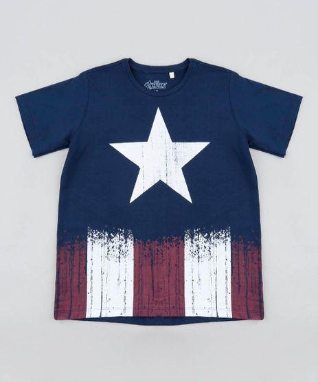 Camiseta-Infantil-Capitao-America-Manga-Curta-Gola-Careca-Azul-Marinho-8335901-Azul_Marinho_1