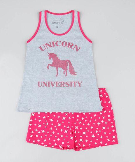 Pijama-Infantil-Unicornio-com-Glitter-Regata-Cinza-Mescla-9476297-Cinza_Mescla_1
