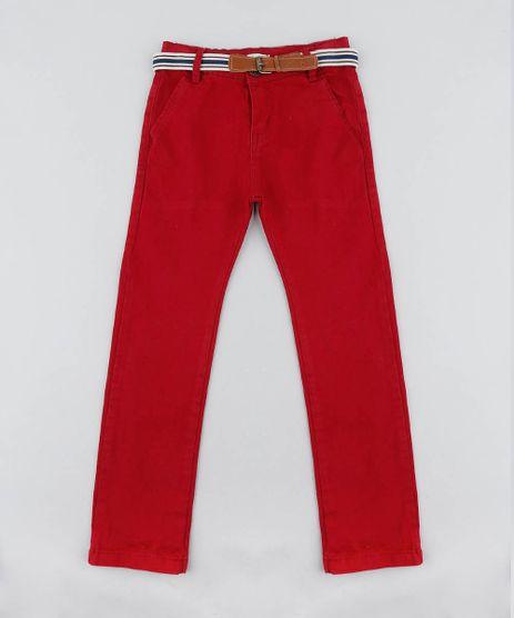 Calca-Color-Infantil-Slim-com-Cinto-Vermelha-9453588-Vermelho_1