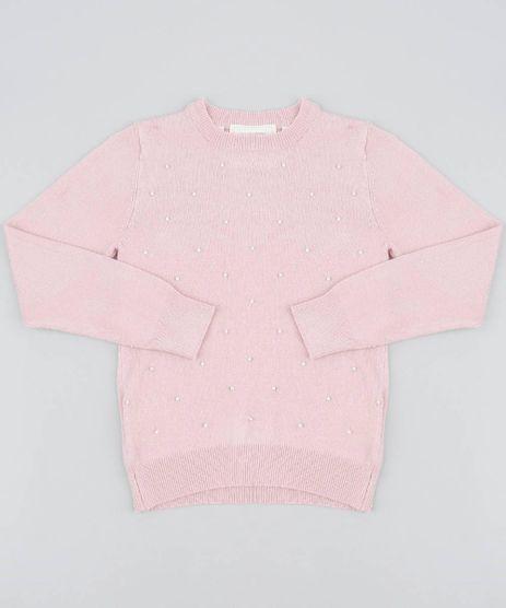Sueter-Infantil-em-Trico-com-Perolas-Rosa-9347811-Rosa_1