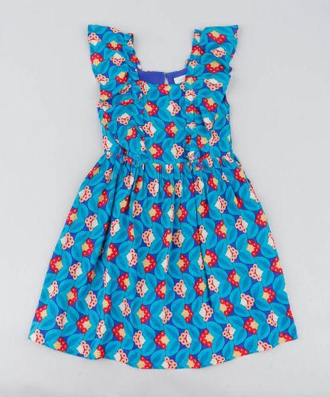 Vestido-Infantil-Estampado-Floral-com-Babado-Azul-9388940-Azul_1