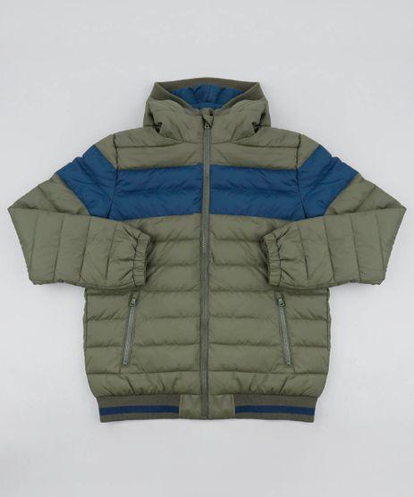 Jaqueta-Puffer-Infantil-com-Recorte-e-Capuz-Verde-Militar-9365144-Verde_Militar_1