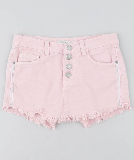Short-Saia-Jeans-Infantil-com-Faixa-Lateral-Barra-Desfiada-Rosa-Claro-9416228-Rosa_Claro_1