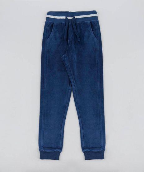 Calca-Infantil-em-Plush-com-Listra-e-Brilho-Azul-Marinho-9366775-Azul_Marinho_1