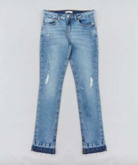 Calca-Jeans-Infantil-Cigarrete-Destroyed-Azul-Medio-9413241-Azul_Medio_1