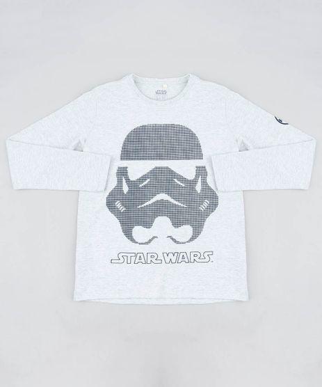 Camiseta-Infantil-Stormtrooper-Star-Wars-Gola-Careca-Manga-Curta-Cinza-Mescla-Claro-9442312-Cinza_Mescla_Claro_1