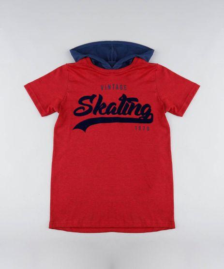 Camiseta-Infantil--Vintage-Skating--com-Capuz-Manga-Longa-Vermelha-9440389-Vermelho_1