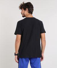 e419149df7 Camiseta Masculina Básica Flamê Manga Curta Gola V Preta ...