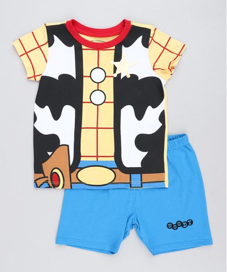 Pijama-Infantil-Woody-Toy-Story-Manga-Curta-Amarelo-9476322-Amarelo_1