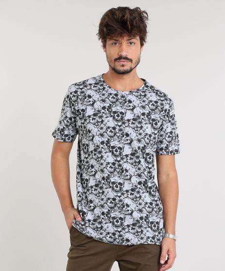 Camiseta-Masculina-Estampada-de-Caveiras-Manga-Curta-Gola-Careca-Cinza-Mescla-9474799-Cinza_Mescla_1