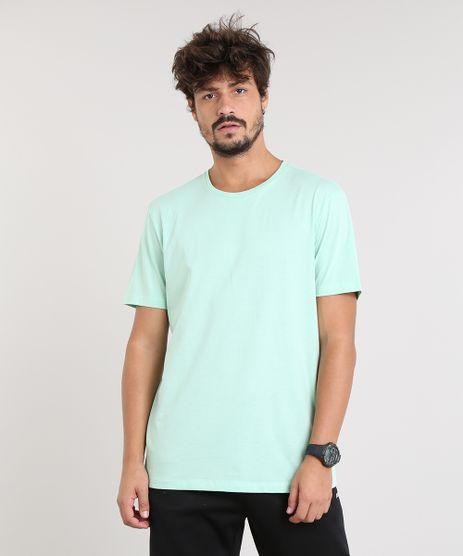 Camiseta-Masculina-Basica-Manga-Curta-Gola-Careca-Verde-Claro-9451465-Verde_Claro_1