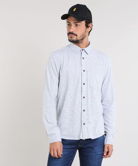 Camisa-Masculina-Listrada-com-Bolso-Manga-Longa-Cinza-Mescla-Claro-9455021-Cinza_Mescla_Claro_1