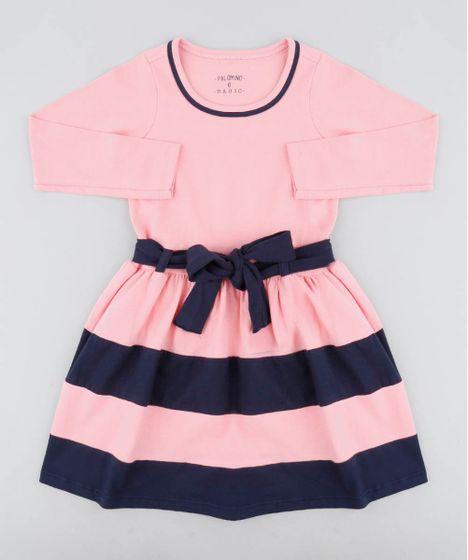 83b991a29 Vestido-Infantil-com-Recortes-e-Laco-Rosa-9420688- ...
