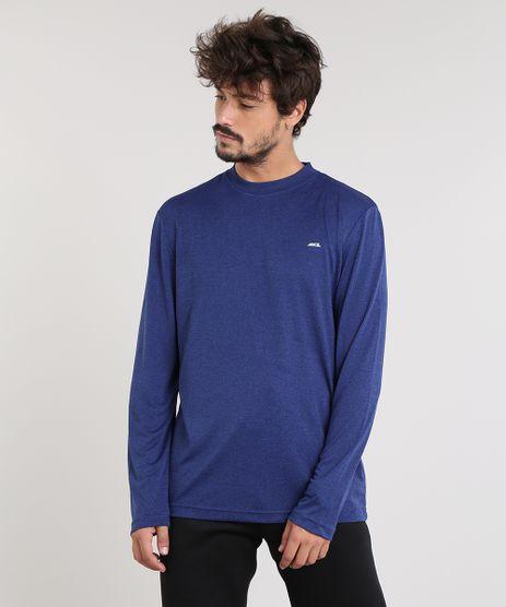Camiseta-Masculina-Esportiva-Ace-Basica-Mescla-Manga-Longa-Gola-Careca-Azul-9345396-Azul_1