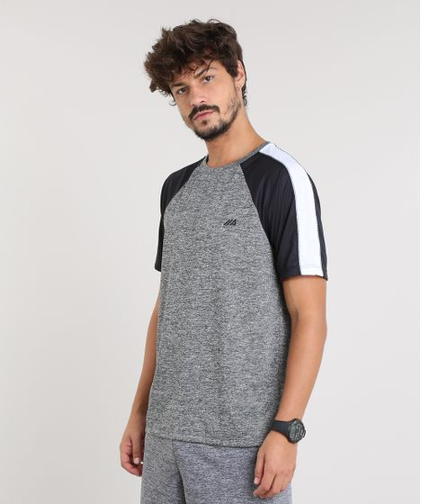 89cc232cb1 Camiseta Masculina Esportiva Ace Raglan com Recorte Manga Curta Gola ...