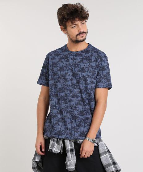 Camiseta-Masculina-Estampada-Coqueiros-Manga-Curta-Gola-Careca-Azul-Marinho-9314847-Azul_Marinho_1