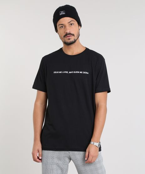 Camiseta-Masculina--Quem-Me-Dera--Manga-Curta-Gola-Careca-Preta-9523687-Preto_1