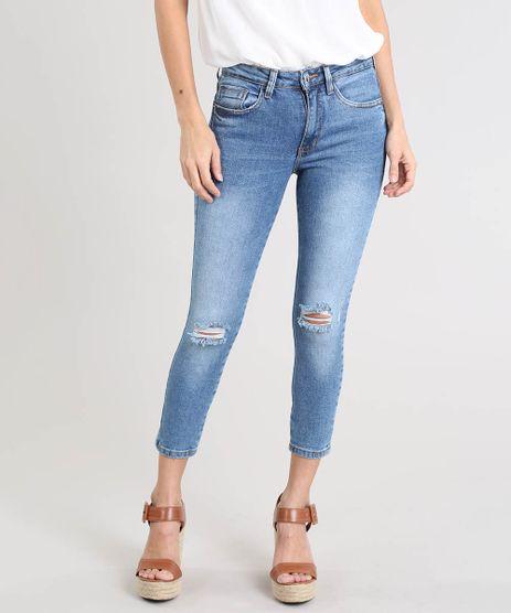 Calca-Jeans-Feminina-Cropped-com-Rasgos-Azul-Medio-9463456-Azul_Medio_1