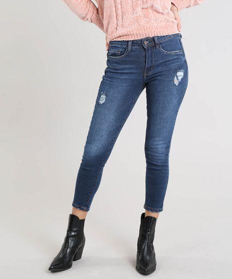 Calca-Jeans-Feminina-Cropped-com-Rasgos-Azul-Escuro-9463457-Azul_Escuro_1