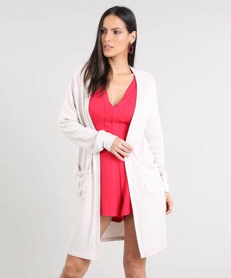 Capa-Feminina-Longa-em-Trico-com-Bolsos-Kaki-Claro-9343627-Kaki_Claro_1