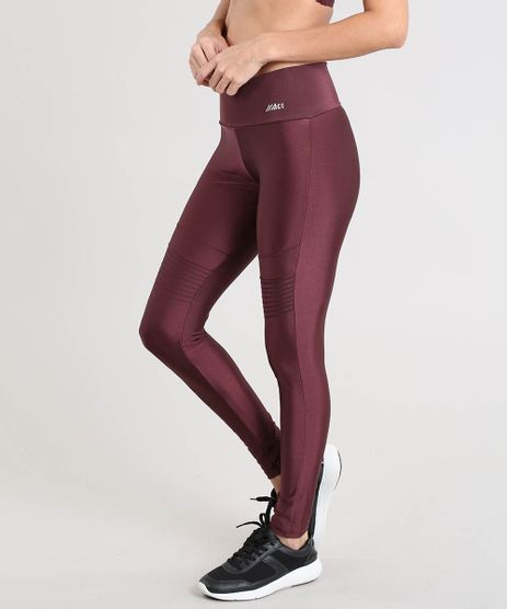 4e1d8d1394 Calca-Legging-Feminina-Esportiva-Ace-com-Recorte-Vinho-
