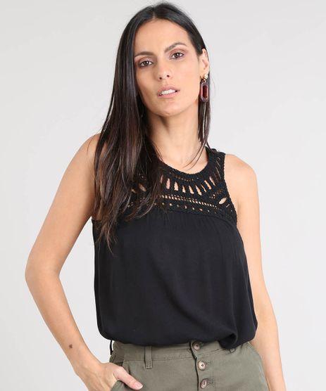 Regata-Feminina-Ampla-com-Macrame-Decote-Redondo-Preta-9391889-Preto_1