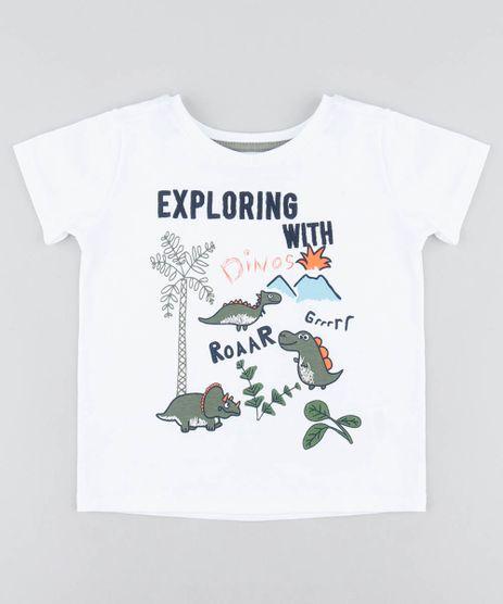 Camiseta-Infantil-com-Estampa-de-Dinossauro-Manga-Curta-Gola-Careca-Branca-9483146-Branco_1