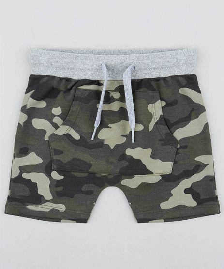 Bermuda-Infantil-Jogger-Estampada-Camuflada-em-Moletom--Verde-Militar-9482766-Verde_Militar_1