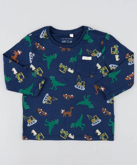 Camiseta-Infantil-Estampada-de-Dinossauros-Manga-Longa-Gola-Careca-Azul-Marinho-9449990-Azul_Marinho_1