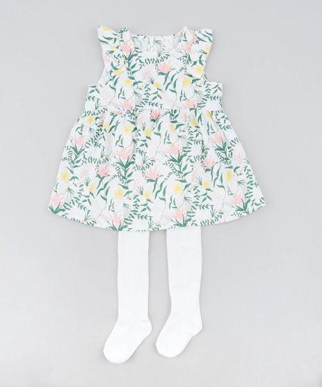 Vestido-Infantil-Estampado-Floral-com-Babado---Faixa-de-Cabelo---Meia-Calca-Off-White-9199163-Off_White_1