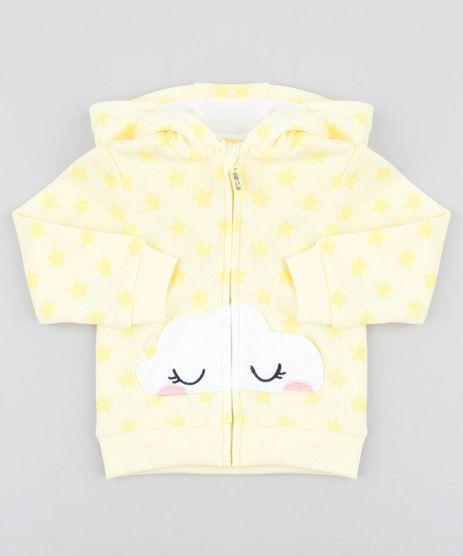 Blusao-Infantil-em-Moletom-Estampado-Estrela-com-Capuz-Amarelo-Claro-9345927-Amarelo_Claro_1