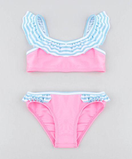 Biquini-Infantil-com-Babado-Protecao-UV50---Rosa-Neon-9425908-Rosa_Neon_1