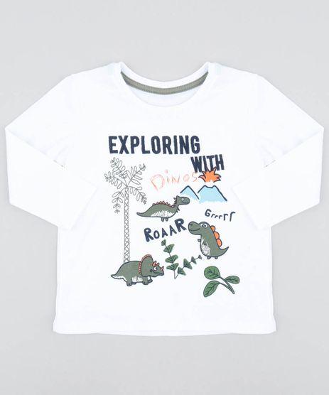 Camiseta-Infantil-com-Estampa-de-Dinossauro-Manga-Longa-Gola-Careca-Branca-9483147-Branco_1