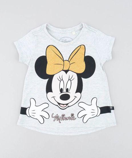 Blusa-Infantil-Minnie-com-Brilho-Manga-curta-Cinza-Mescla-Claro-9473123-Cinza_Mescla_Claro_1