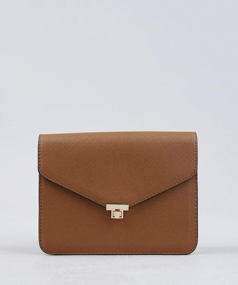 Bolsa-Feminina-Transversal-com-Corrente-Caramelo-9227656-Caramelo_1
