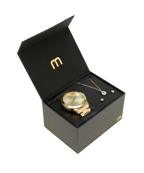 d6fa8bb327c Kit de Relógio Mondaine Feminino Analógico + Colar + Brinco ...