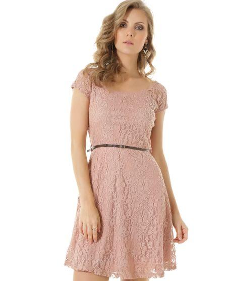 413b12cd72 Vestido-em-Renda-com-Cinto-Rosa-Claro-8489204-