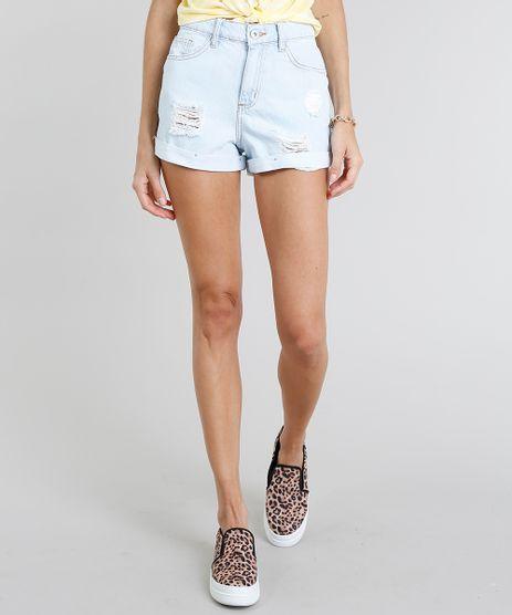 Short-Jeans-Feminino-Mom-Vintage-Destroyed-Azul-Claro-9274695-Azul_Claro_1