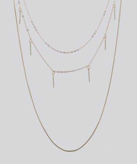 Colar-Feminino-Triplo-com-Pingentes-Dourado-9435992-Dourado_1