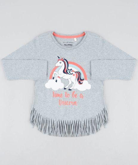 Blusa-Infantil-Unicornio-com-Franja-Manga-Longa-Decote-Redondo-Cinza-Mescla-9442901-Cinza_Mescla_1