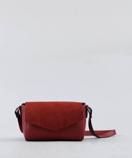 Bolsa-Feminina-Transversal-Pequena-com-Suede-Vinho-9381295-Vinho_1