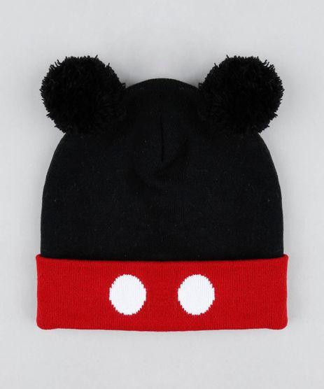 Gorro-Infantil-Mickey-em-Trico-com-Pompom-Preto-9360874-Preto_1