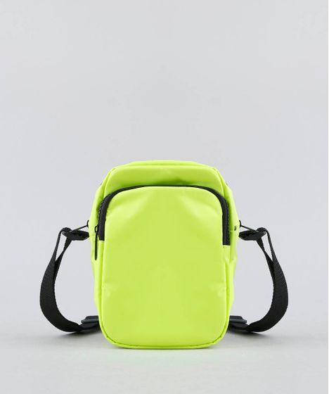 e4892e538 Bolsa Feminina Transversal Pequena com Bolso Amarela Neon - cea