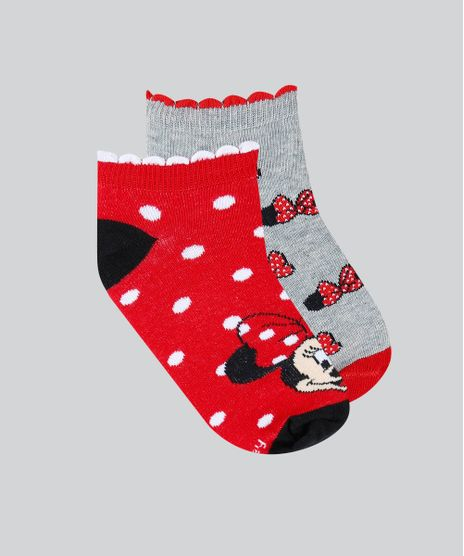 Kit-de-2-Meias-Infantis-Soquete-Minnie-Estampadas-Multicor-9482030-Multicor_1