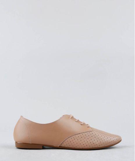 Oxford-Feminino-Beira-Rio-com-Micro-Furos-Bege-9474430-Bege_1