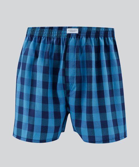 Samba-Cancao-Masculina-Estampada-Xadrez-Azul-9477288-Azul_1