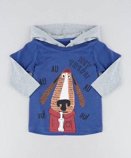 Camiseta-Infantil-Estampa-Interativa-de-Cachorro-com-Capuz-Manga-Longa-Azul-9428863-Azul_1