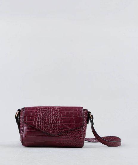 e47477318 Bolsa-Feminina-Transversal-Pequena-Croco-Vinho-9386712-Vinho_1
