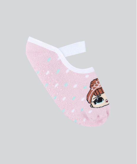 Meia-Infantil-Sapatilha-LOL-Surprise-Estampada-Rosa-Claro-9482026-Rosa_Claro_1